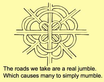 Overpass jumble mumble poem