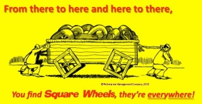 illustrated poem on square wheels