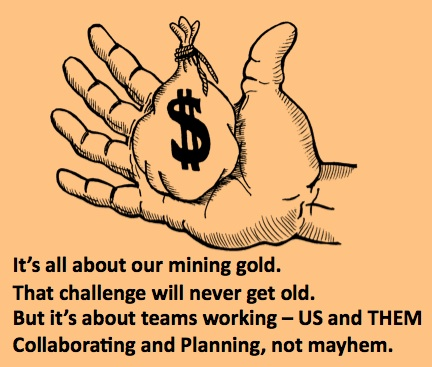 LD Gold Hand Mining Gold Mayhem poem
