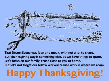 LD Turkey Day Desert Scene poem