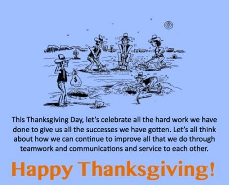 LD Turkey Day THANKS digging