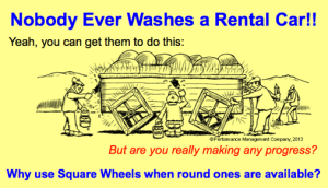 Square wheels image = Nobody with Pride cartoon