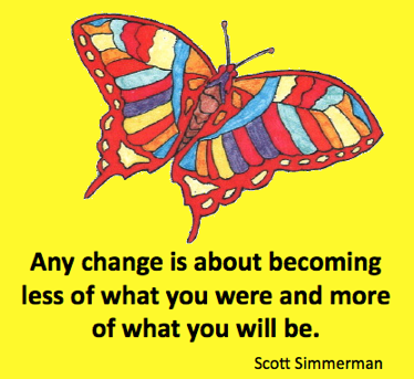 Butterflies and Change Cartoon Quote