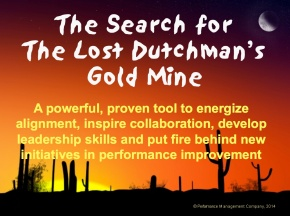 image of team building game Search for Lost Dutchman's Gold Mine exercise