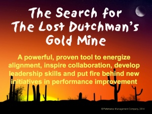 Slideshare overview of Lost Dutchman team building exercise