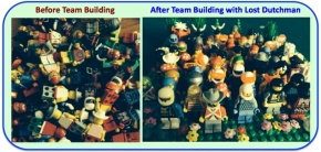LEGO image of teamwork and alignment of team building