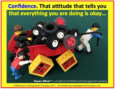 Square Wheels One LEGO Confidence quote
