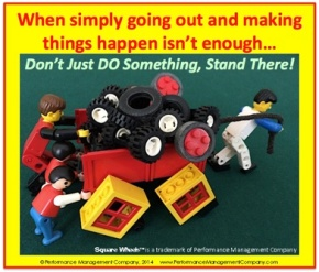 Square Wheels LEGO image about organizational improvement