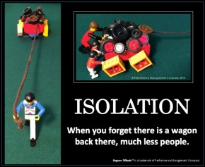 Square Wheels LEGO Poster image about isolation and leading