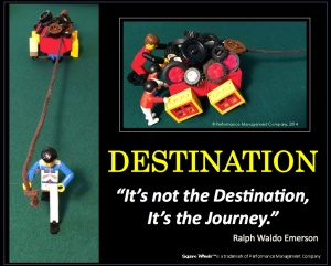 LEGO Square Wheels Poster on Ralph Waldo Emerson Quote