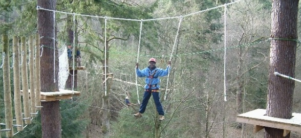 Teamwork High Ropes Guy
