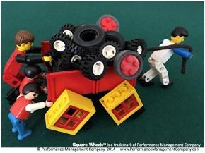 Square Wheels LEGO illustration image