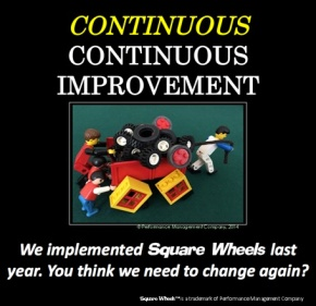 Square Wheels image of continuous continuous improvement