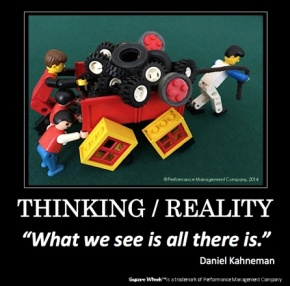 Daniel Kahneman Thinkikng in a Square Wheels image