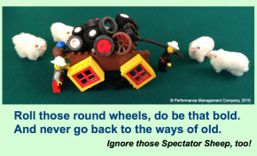 A Square Wheels image combined with a Dr. Seuss-style poem by Scott Simmerman
