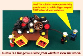 Square Wheels LEGO illustrations by Scott Simmerman
