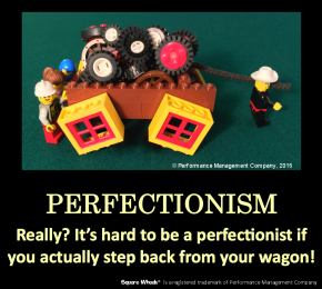 Square Wheels Image Poster on Perfectionism