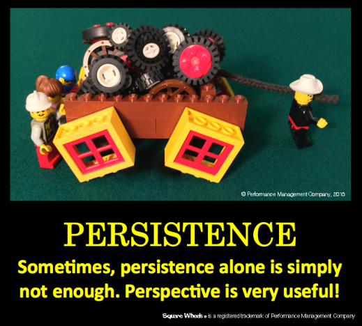 A Square Wheels image and poster on Persistence by Scott Simmerman