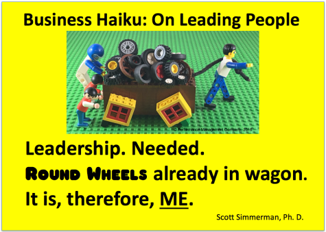 a square wheels business haiku using lego, by Scott Simmerman
