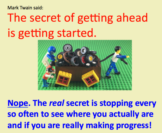 Twain Making Progress LEGO SWs