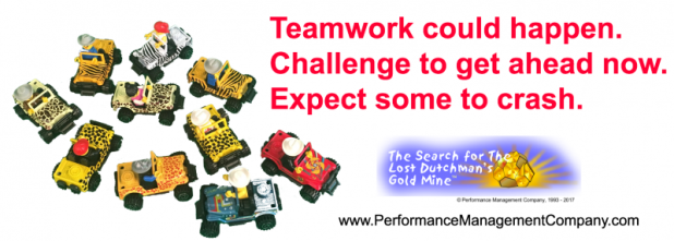 Teamwork Haiku around Lost Dutchman's Gold Mine teambuilding game