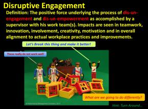 Positive Disruptive Engagement can impact innovation and motivation