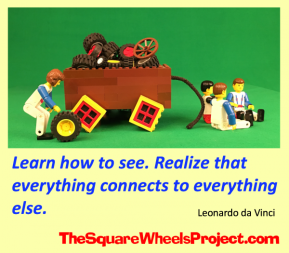 Square Wheels and Round Wheels and a daVinci quote on learning