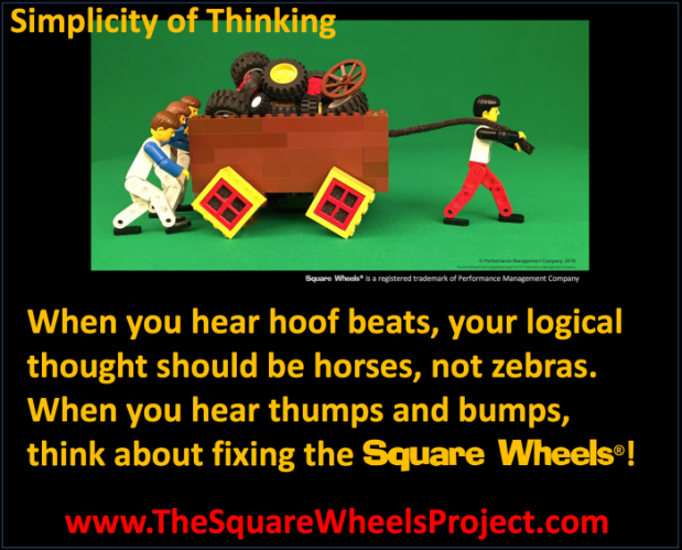 The Square Wheels Project Simplicity of Thinking and Zebras and Horses