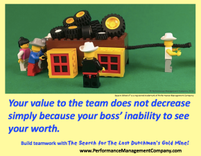 Your personal value and contribution to the team does not depend on your boss