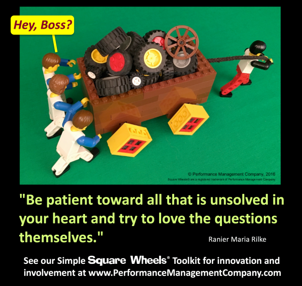Square Wheels quote on patience and listening