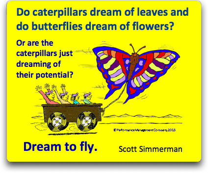 Caterpillars can fly if they just lighten up