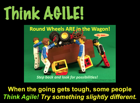Agile Thinking for Managers using Square Wheels