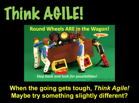 Agile Thinking around using Round Wheels instead of Square Wheels